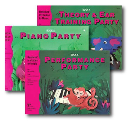 Bastiens' Invitation to Music - 3 Book Set - Includes Piano Party Book A, Performance Party Book A, and Theory & Ear Training Party Book A
