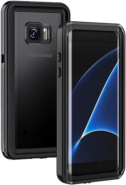 Lanhiem Funda Impermeable Samsung Galaxy S7 Edge,Carcasa Resistente Al Agua IP68 Certificado [Protección de 360 Grados],Carcasa para Galaxy S7 Edge con Protector de Pantalla Incorporado,Negro: Amazon.es: Electrónica