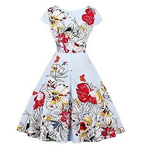 LaceLady Boatneck Royal Blue Vintage Sleeveless Tea Dress With Belt Pleated Swing Party Large White Polka Dot 34XL