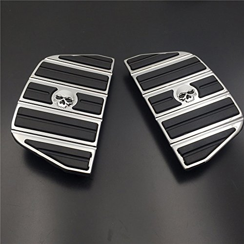 - HK Motorcycle Chrome Skull Zombie Passenger Footboard Insert Kit Traditional Shape TOURING FLHT FLT FLTR FLHR FLHS SOFTAIL FLSTC FLSTN FLSTF FLSTS DYNA FLD MODELS WITH D STYLE FOOTBOARDS