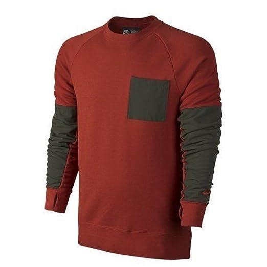 6f2de2daa0be Nike SB Men s Everett Overlay Pocket Crew Neck Sweatshirt 704853-663  (X-Large