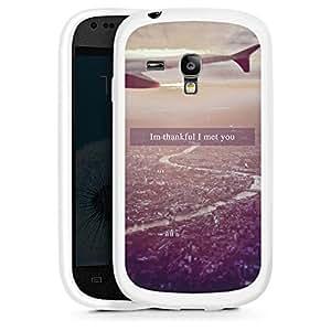 Silicona Carcasa blanco Funda para Samsung Galaxy S3 Mini - Met You