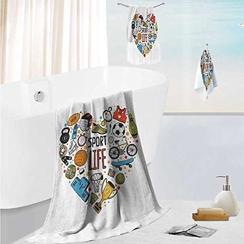 SCOCICI1588 large luxury bath towel setRugby Player In Acti Running Success In Arena Playground Usa Sport Team Pict ForHome Spa Pool Gym Use 19.7