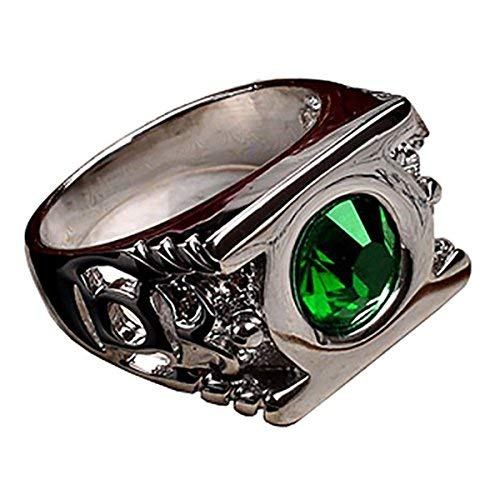 (Cosparts® Green Lantern High Quality Alloy Ring Cosplay Costume (Size 10(Diameter)