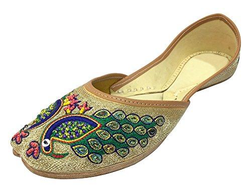 4641dfbb Trinn N Style Kvinner Indiske Tradisjonelle Sko Punjabi Jutti Mojari Khussa  Påfugl Joti