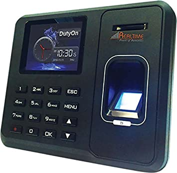 Realtime Biometric Fingerprint Based Time and Attendance System (Black) Home Security & Surveillance Biometrics at amazon
