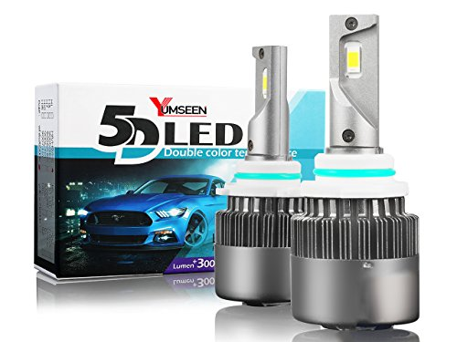 YUMSEEN Upgraded 9006/HB4 7600LM 60W 6500K All-in-One LED Headlight Bulb Kits-Superior CSP Chips/Internal Driver-Hi/Lo Beam-2Yrs Warranty(9006/HB4) ()