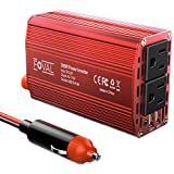 Foval 300W Car Power Inverter DC 12V to 110V AC Converter with 4.8A Dual USB Charger
