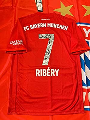 Ribery#7 Bayern Munich Home Special Name/&Number Trikot Soccer Jersey 2019-2020