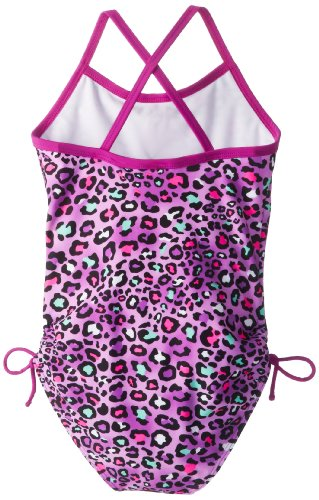 Kanu Surf Big Girls'  Splash One Piece Swimsuit, Purple, 12