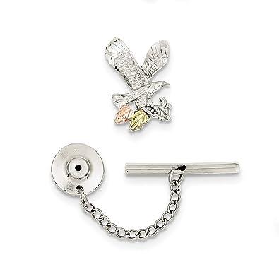 Broche de plata de ley y 12 K Eagle Pin corbata Tack - JewelryWeb ...