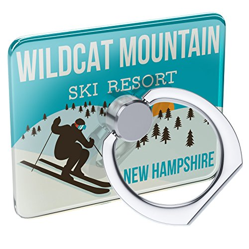 Cell Phone Ring Holder Wildcat Mountain Ski Resort Hampshire Ski Resort Collapsible Grip & Stand Neonblond (Ski Wildcat)