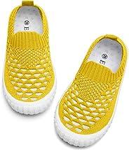 JOINFREE Boys Girls Lightweight Breathable Mesh Sneakers Slip-On Running Walking Knit Sock Shoes (Baby/Toddler