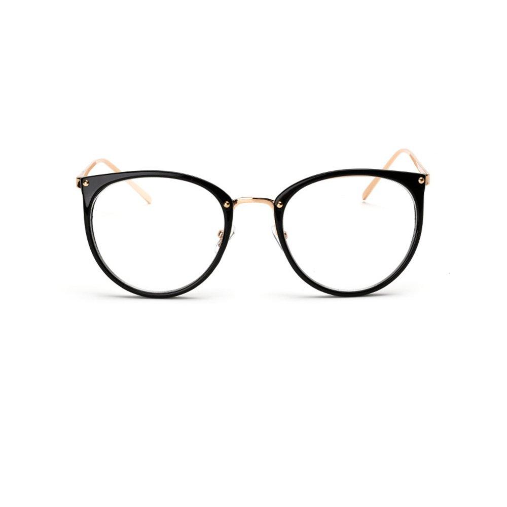 Retro Plain Glasses Frame Non-prescription Eyewear Round Vintage Goggles?Eyeglasses Spectacles Optical Frame with Clear Lenses for Men & Women from Kaimao(Matte Black)