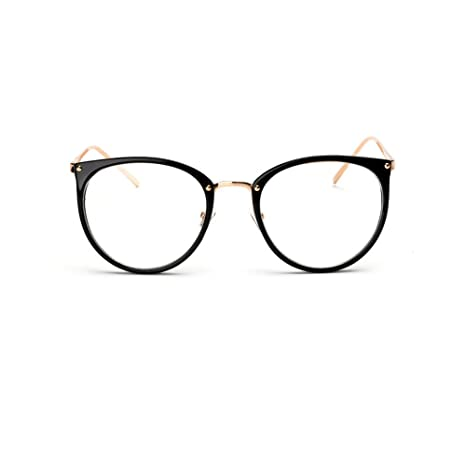 e746c10853 Retro Plain Glasses Frame Non-prescription Eyewear Round Vintage Goggles Eyeglasses  Spectacles Optical Frame