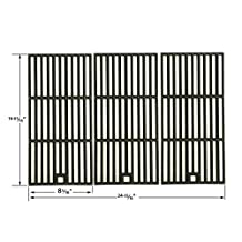 Cast Iron Cooking Grid Replacement for Centro 2000, 4000, Thermos 461230403, Master Chef T420LP, Kmart 640-641215405, Kirkland 463230703, Front Avenue, CharBroil 463251505, 463251605, 463252005, 463252105 Gas Grill Models, Set of 3