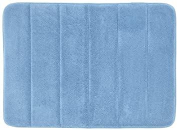 Mohawk Home Memory Foam Bath Rug, 17 by 24-Inch, Slate Blue
