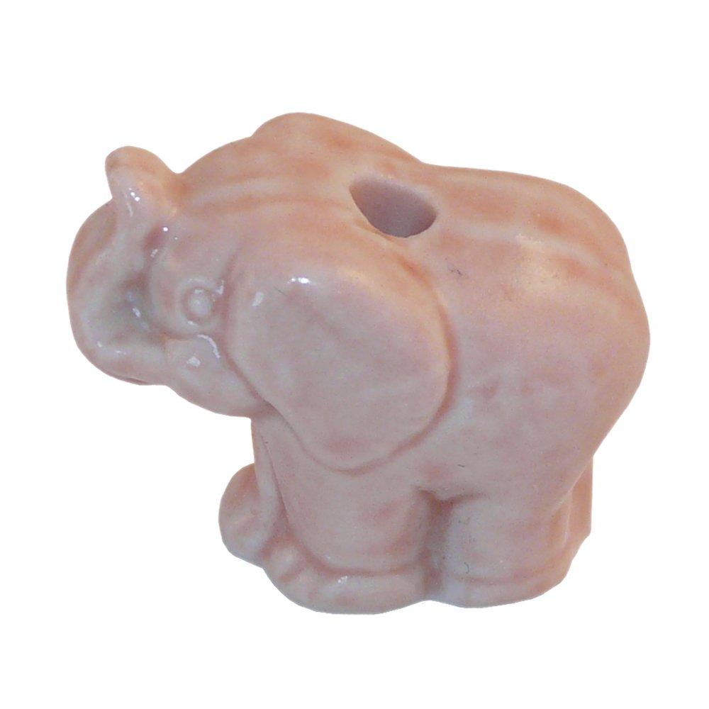 Ceramic Cord Pull Elephant - Blue Crafty Jungle