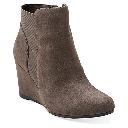 Grey Boot MEDIUM Rosepoint Clarks Womens Suede Bell 12 gw0qOUtx