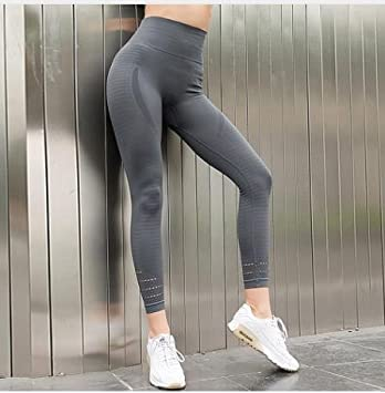 10af096b86 HANLILI Women's Butt Lift Sport Leggings Hollow Out Fitness Gym Leggings  Seamless Slim Compression Squat Tights