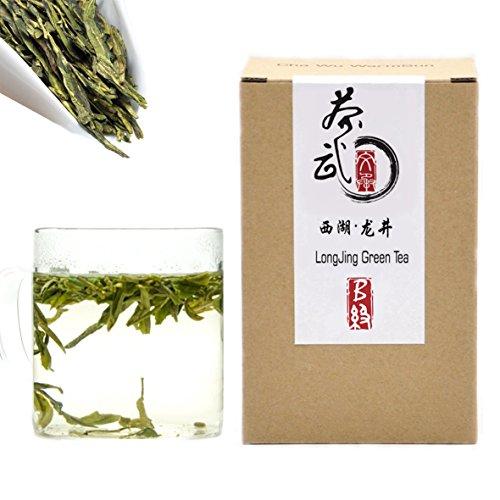 - Cha Wu-[B] LongJing Green Tea,8.8oz/250g,Chinese Green Tea Loose Leaf