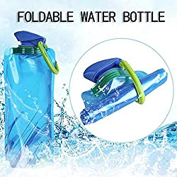 Best Quality - Water Bottles - Outdoor Foldable Water bottle Sports Camping Hiking Traveling Collapsible Drinking 700ml Good Water bottle Portable Bag - by LINAE - 1 PCs