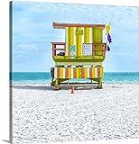 greatBIGcanvas Gallery-Wrapped Canvas entitled Miami Beach IX by Richard Silver 24''x24''