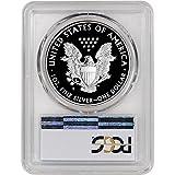2017 S American Silver Eagle Proof (1 oz) First Strike Golden Gate Label $1 PR70 PCGS DCAM
