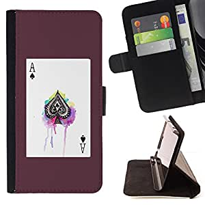 Jordan Colourful Shop - ace poker cards spades poster gambling For Apple Iphone 6 - Leather Case Absorci???¡¯???€????€????????