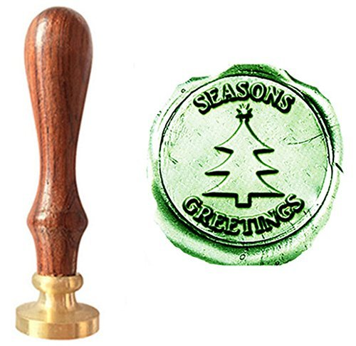 Wax Seal Christmas Tree (MNYR Vintage Seasons Greetings Christmas Tree Star Decorative Wedding Invitations Gift Cards Paper Stationary Envelope Seals Wax Seal Stamp Sealing Wax Stamp Gift Set)