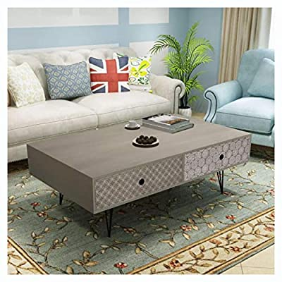 "K&A Company Coffee Table, Coffee Table 39.4""x23.6""x13.8"" Gray"