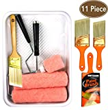 11 Piece Professional 9 inch Paint Kits,Paint Rollers,Paint Roller Covers, Paint Brush,Paint Brushes, Paint Tray, Angle sash 2 inch,2.5 inch,3 inch,Home Repair Tools