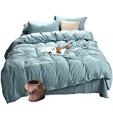 MH MYLUNE HOME Quality 3 Piece Duvet Cover Set Full Size, Environmental,Fade Resistant, Hypoallergenic 140g/㎡ Bedding Set