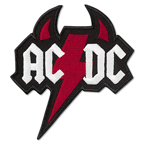 (AC/DC Devil Logo Music Rock Band Embroidered Patch Iron On (3.1