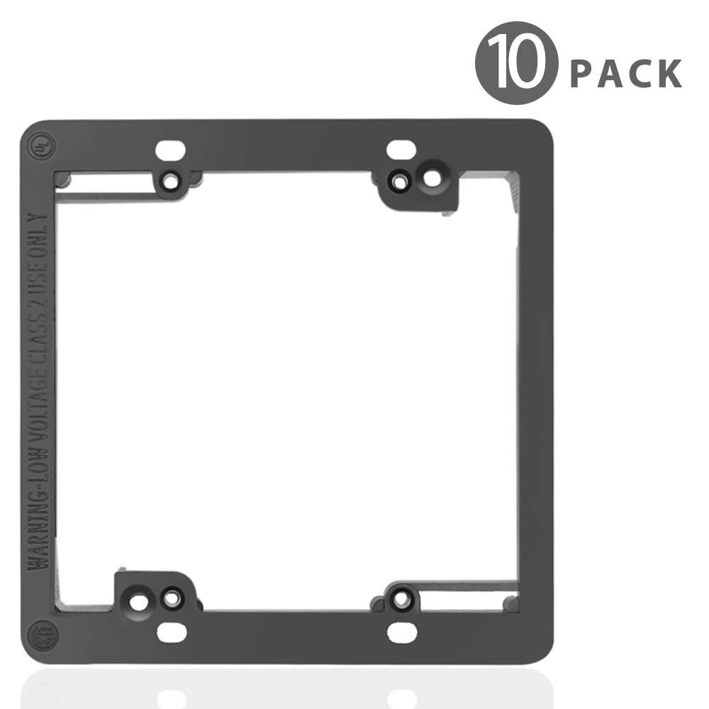 TNP Low Voltage Mounting Bracket, Horizontal/Vertical, Black (2 Gang (5 Pack)) by TNP Products (Image #1)