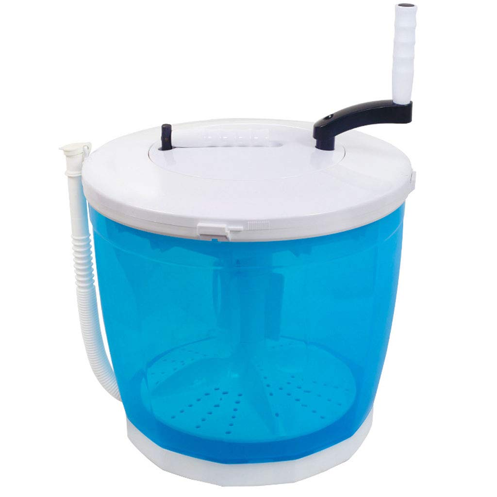 Portable Clothes Washer, Hand Cranked Manual Clothes Non-Electric Washing Machine and Spin Dryer, Counter Top Washer/Dryer for Camping, Apartments, or Delicates