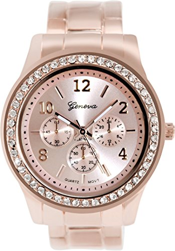 Geneva Platinum Womens Watch - Geneva Platinum Women's 8495.ROSEGOLD.ROSEGOLD Rose-Gold Metal Quartz Watch