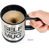 Tim Hawk Auto Mixing Battery Operated Self Stirring Mug For Tea, Coffee, Hot Chocolate , Soup (Color May Vary)