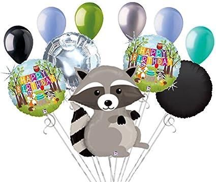 "Happy Birthday Woodland Creatures 18/"" Balloon Birthday Party Decorations"