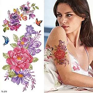 3ps-Tattoo pegatina mujer flor mariposa cuerpo tatuaje niña 3ps ...