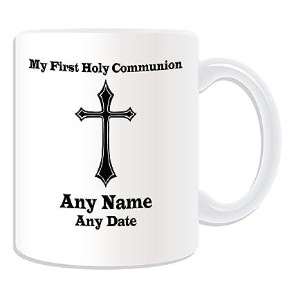 Regalo personalizado – Mi Primera Comunión Santa Cruz Sharp taza (Religión theistic tema de diseño