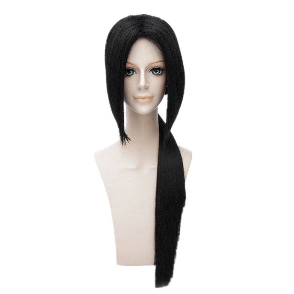 Kadiya Layered Anime Cosplay Wig Long Black Synthetic Hair