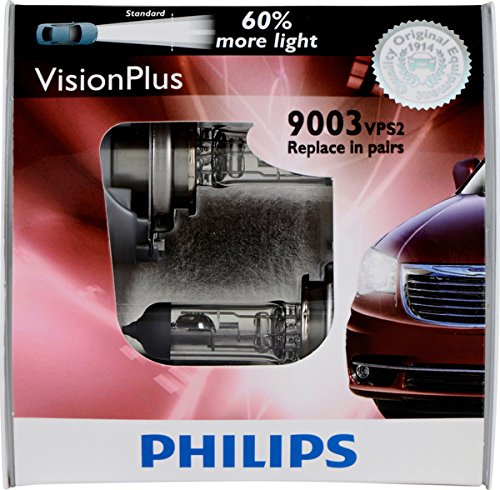 Philips H1 VisionPlus Replacement Bulb, (Pack of 2)