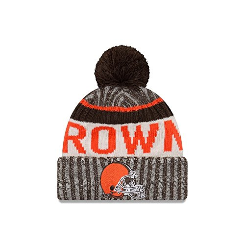 Cleveland Browns New Era 2017 NFL Sideline On Field Sport Knit Hat - (Cleveland Browns Cap)