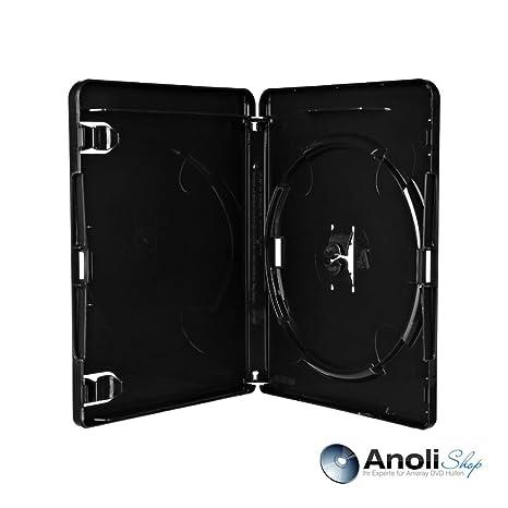 6 Amaray - Carcasa para Blu-ray Negro 15 mm para 1 BluRay ...