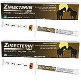 ZIMECTERIN GOLD 2 TUBES IVERMECTIN HORSE EQUINE WORMER PARASITES TAPEWORM 7.75% TUBE OTC