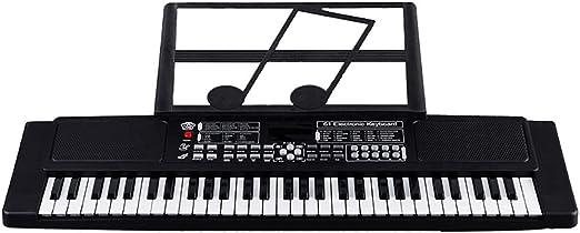ZYLFN 61 Teclado de Piano eléctrico portátil Digital táctil ...