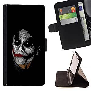 DEVIL CASE - FOR Samsung Galaxy Core Prime - Joker - Style PU Leather Case Wallet Flip Stand Flap Closure Cover