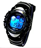 Digital Boys Sports Watch Date Alarm Stopwatch with 7 Color Backlights
