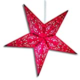Red Aura Paper Star Lamp/Lantern